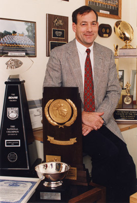 As head coach, Pete Schmidt guided Albion to the 1994 NCAA Division III football championship.
