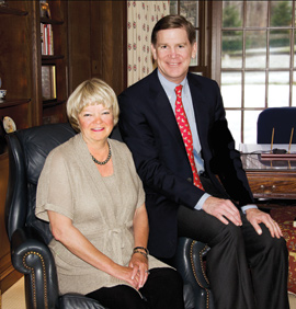 Sally Stark Cutler, '75, with her husband, Sandy Cutler