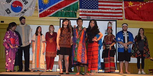 International Students during an international fashion show.
