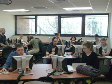 An Albion College computer lab