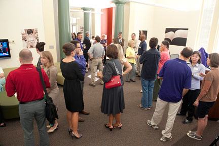 Oct. 7: The crowd gathers prior to the dedication ceremony.