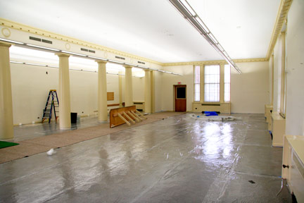 May 12: The first floor's east section is cleared out.