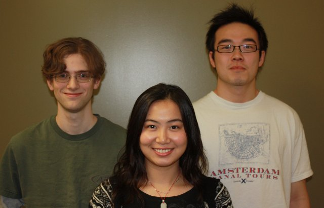 Left to right: Christopher Creighton, Yang Chen, and Chen Chen