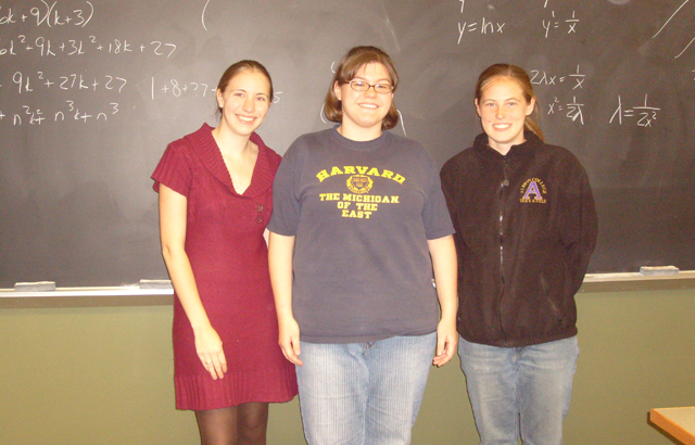 Left to right: Rachel Kamischke, Kathryn Wagner, Becca Putans