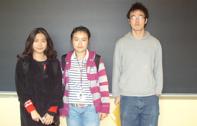 Left to right: Mingjia Yang, Yang Chen, Chen Chen