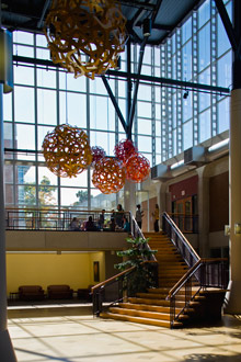 Albion College's Science Complex atrium