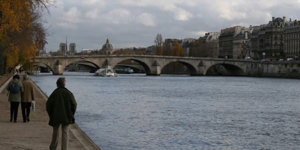 Walking along the Seine in Paris. (Photo: John Perney)