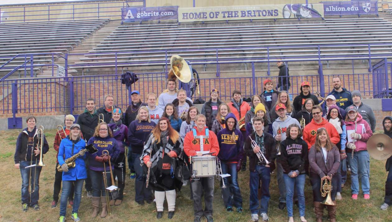 The Alumni Band at Sprankle-Sprandel Stadium.