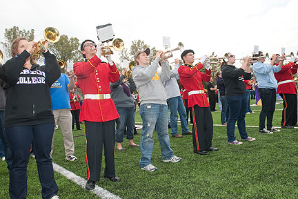 Alumni Band performs at Homecoming 2011
