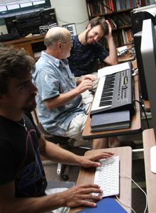 Matt Gallick, '13, and Chad Bousley, '14, worked with professor James Ball during their summer 2012 FURSCA project.