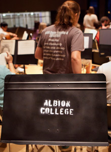 Albion College music stand