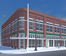 Rendering of The Ludington Center at 101 N. Superior St., Albion, MI