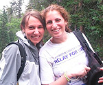 Marie Galante, left, enjoyed the opportunity to go hiking with a friend during her time in Colorado.