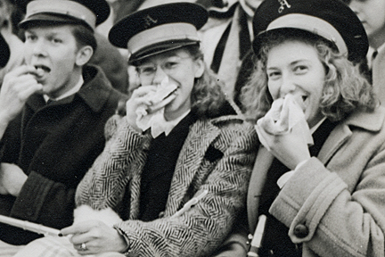 Members of the marching band, 1941