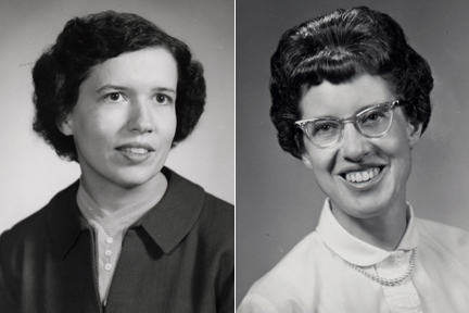 Emerita faculty Robina Quale-Leach (history) and Betty Beese (physical education), circa 1960