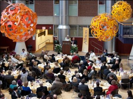 2011 Young Alumni Award ceremony in the Science Complex atrium.