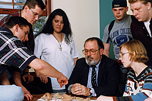 With students in 1995