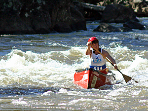 Hadley at the 2010 canoe/kayak collegiate national championships