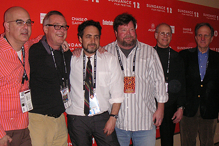 The Room 237 crew on the red carpet.