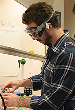 Chris Kruppe has a concentration in environmental science in addition to his chemistry major.