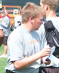 Tyler Floyd was the second member of Albion's athletic training education program to intern with the Cleveland Browns.