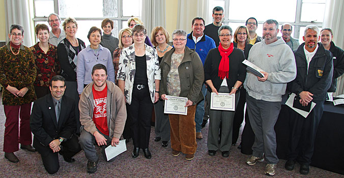Employees recognized for service to Albion College, 2011
