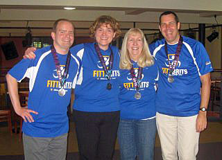 Campus Programs and Organizations staffers Jason Frampton, Schreer, Pam Schuler and Tracey Howard, all but Schuler running their first half marathons.