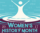 Albion College Women's History Month 2017 logo