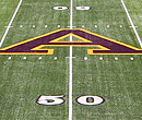 Fifty-yard line at Albion College's Sprankel-Sprandel Stadium