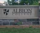 Albion College sign
