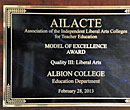 2012 Liberal Arts College division winner