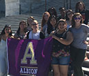 Albion College AAUW students in Washington, D.C., June 2017