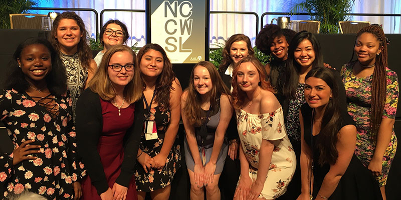 Albion College AAUW members at the 2017 NCCWSL in Maryland.