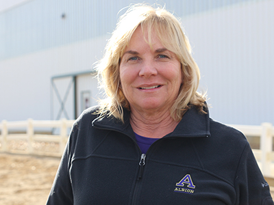 Andrea Wells, director, Nancy G. Held Equestrian Center, Albion College