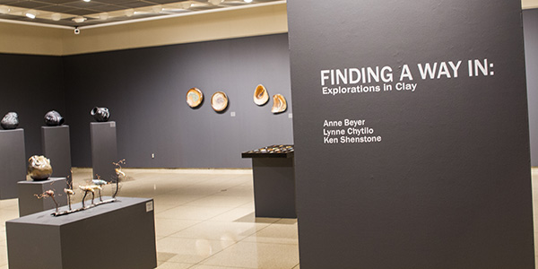 """Finding a Way In: Explorations in Clay,"" on exhibit until Oct. 10, 2014 in Bobbitt Visual Arts Center's Munro Gallery."