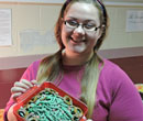 Brittney DeShano with green bean casserole
