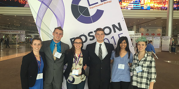 Albion students at the Experimental Biology conference in Boston.