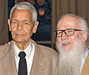 Julian Bond with Albion College history professor Wes Dick