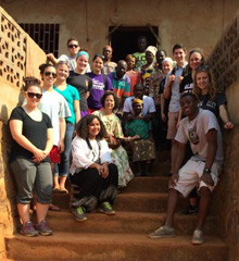 Albion First-Year Seminar students visited Cameroon last month in between semesters.