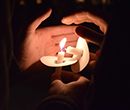 February 27 Albion College candlelight vigil for victims of Parkland, Fla., school shooting.
