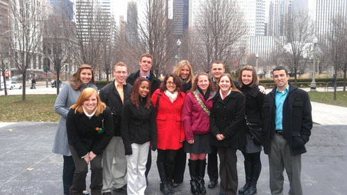 Albion students got a career-themed taste of life in the big city over semester break.