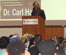 Columbia University's Dr. Carl Hart discusses his 2013 memoir High Price in Goodrich Chapel as part of the 2016 Richard M. Smith Common Reading Experience.