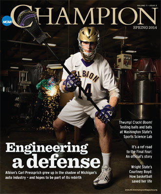 Carl Pressprich, '14, is the cover story of the Spring 2014 issue of NCAA Champion magazine.