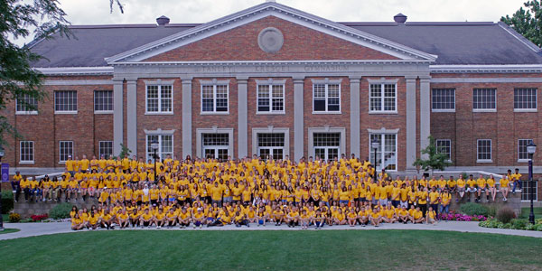 The Class of 2020 During First-Year information weekend