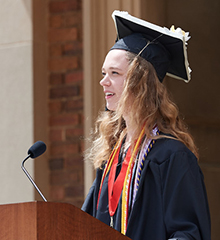 Sarah Finn, '19, delivered the Senior Class Address at Albion College's 2019 Commencement.