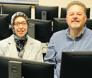 Buket Aydas (left) and David Reimann, faculty members in Albion College's Department of Mathematics and Computer Science