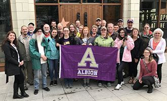 Albion College, Center for Sustainability and the Environment, Washington State trip, Starbucks headquarters, Seattle, May 2017.