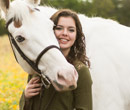 Maddie Darby, '20, with her horse, Elvis