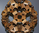 David Reimann's Studded Walnut sculpture was exhibited at the 2015 Bridges Conference.