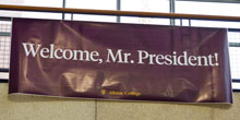 Sign in the Science Complex welcomes Dr. Mauri A. Ditzler to Albion.